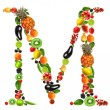 Fruit letter m — Stock Photo