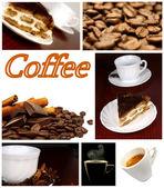 Beautiful Coffee Collage — Stock Photo