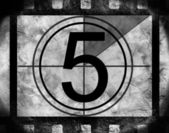 Film countdown 5 — Stock Photo