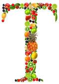 Fruit letter t — Stock Photo