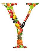 Frutta lettera y — Foto Stock