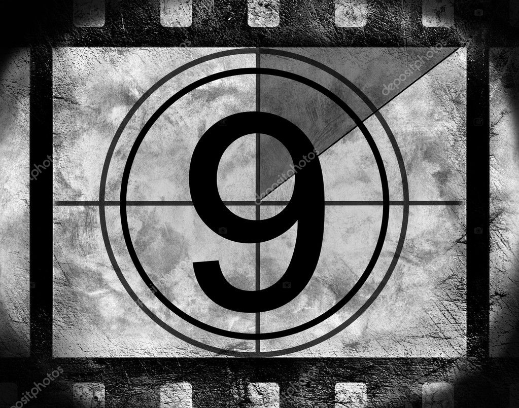 Stock Photo Film Countdown 9 on Clip Art Numbers 1000