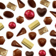 Chocolate bonbons background — Stock Photo
