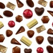 Stock Photo: Chocolate bonbons background