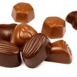 Chocolate bonbons collection — Stock Photo