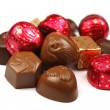 Stock Photo: Chocolate bonbons collection