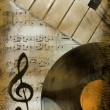 Stock Photo: Musical background in retro style