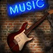 Music background in grunge style — Stock Photo