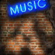 Music background in grunge style - Stock Photo
