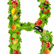 Fruit and vegetable letter b — Stock Photo