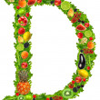 Fruit and vegetable letter d — Stock Photo