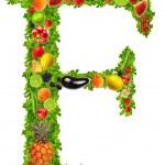 frutta e verdura lettera f — Foto Stock #7795164