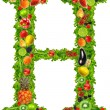 Fruit and vegetable letter h — Stock Photo