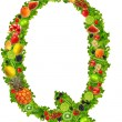 Fruit and vegetable letter q — Stock Photo #7795220