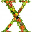 Fruit and vegetable letter x — Stock Photo #7795241