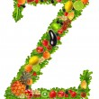 Fruit and vegetable letter z — Stock Photo
