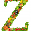Fruit and vegetable letter z — Stock Photo #7795247