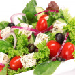 Royalty-Free Stock Photo: Greek salad over white