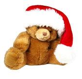 Urso de pelúcia de santa — Foto Stock