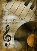 Musical background in retro style — Stock Photo