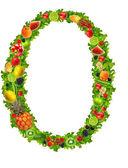0 нет фруктов и овощей — Стоковое фото