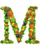 Fruit and vegetable letter m — Stock Photo
