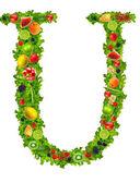 果物と野菜の手紙 u — ストック写真