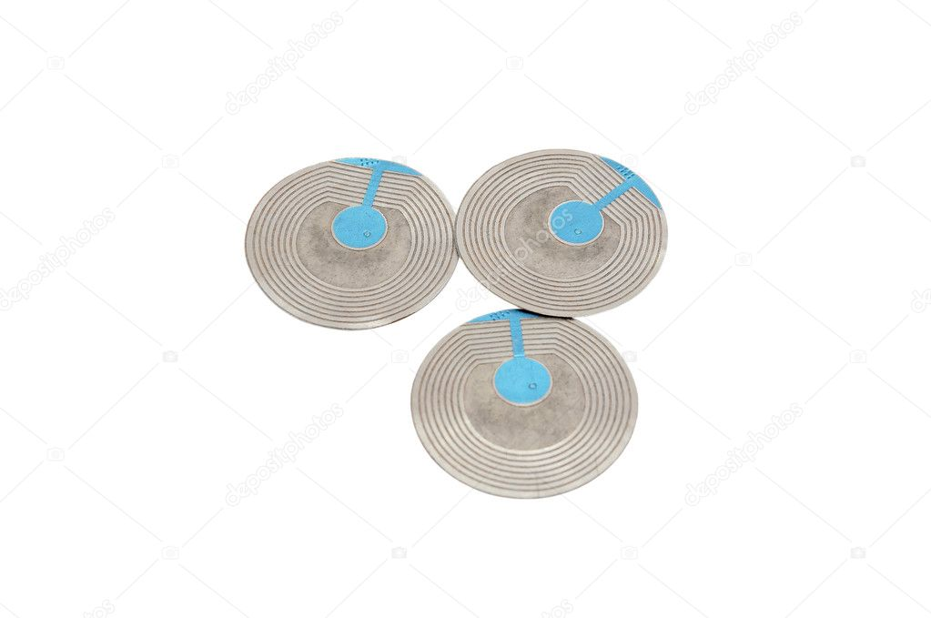 RFID tag   on a white background — Stock Photo #7258207