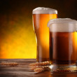 Still Life with a draft beer by the glass. — Stock Photo