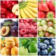 Collection fruits and berries — Stock Photo