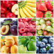 Stock Photo: Collection fruits and berries