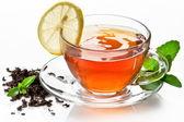 Taza de té a la menta. — Foto de Stock