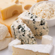 Various types of cheeses. -  