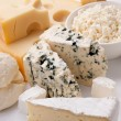 Various types of cheeses. - Stockfoto