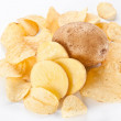Potato chips isolated on white background - Lizenzfreies Foto