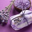 Lavender soap. - Foto de Stock