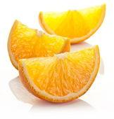Orange slice on a white background. — Stock Photo