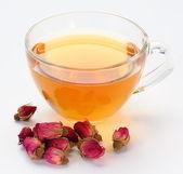 茶和茶玫瑰. — Stockfoto