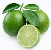 Lime with leaves — Stock Photo