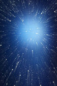 Abstract background. Points of light flying into infinity. — Stock Photo