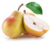 Pears on a white — Stock Photo
