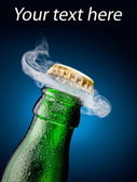 Opening of beer cap — Stockfoto