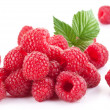 Stock Photo: Ripe raspberries.