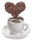 在白色背景上的咖啡杯. — 图库照片