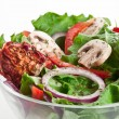 Salad with dried tomatoes, champignon and onion. — 图库照片
