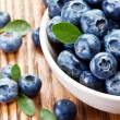 Постер, плакат: Blueberries with leaves