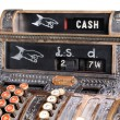 图库照片: Old-style cash register.