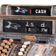 Stock Photo: Old-style cash register.