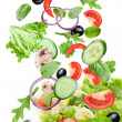 Flying vegetables - salad ingredients. — Stock Photo #7672565