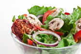 Salad with dried tomatoes, champignon and onion. — Stock fotografie
